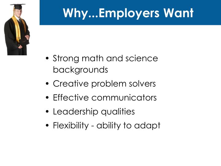 Why employers want