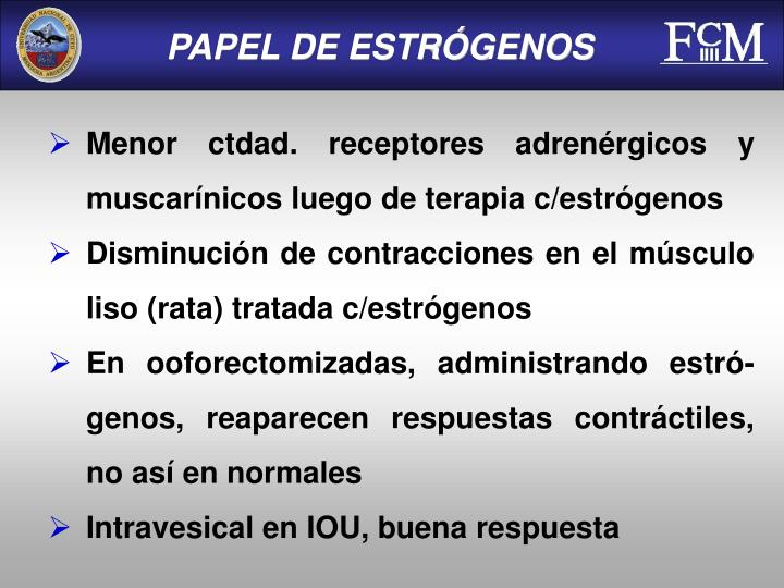 PAPEL DE ESTRÓGENOS