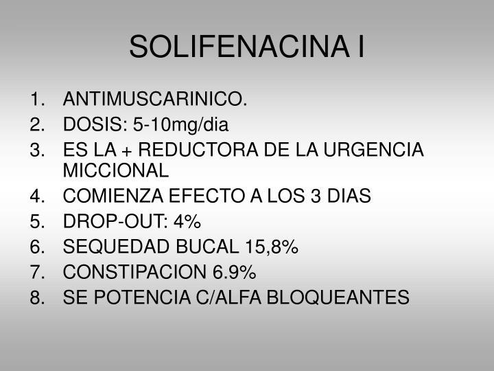SOLIFENACINA I