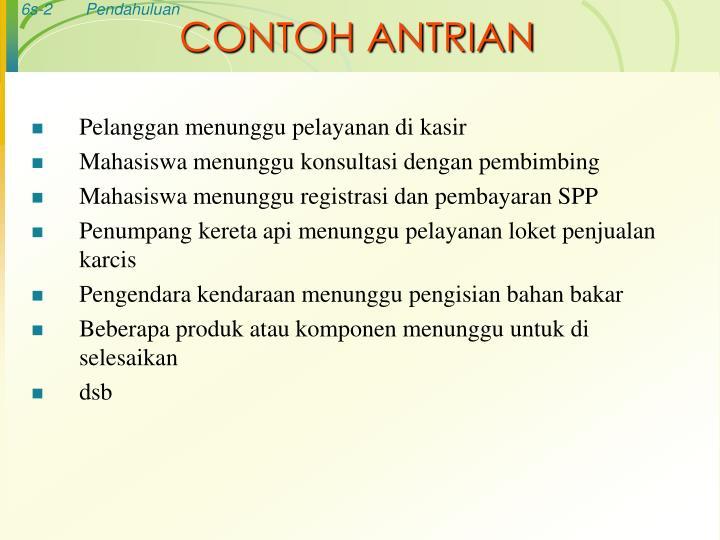 CONTOH ANTRIAN