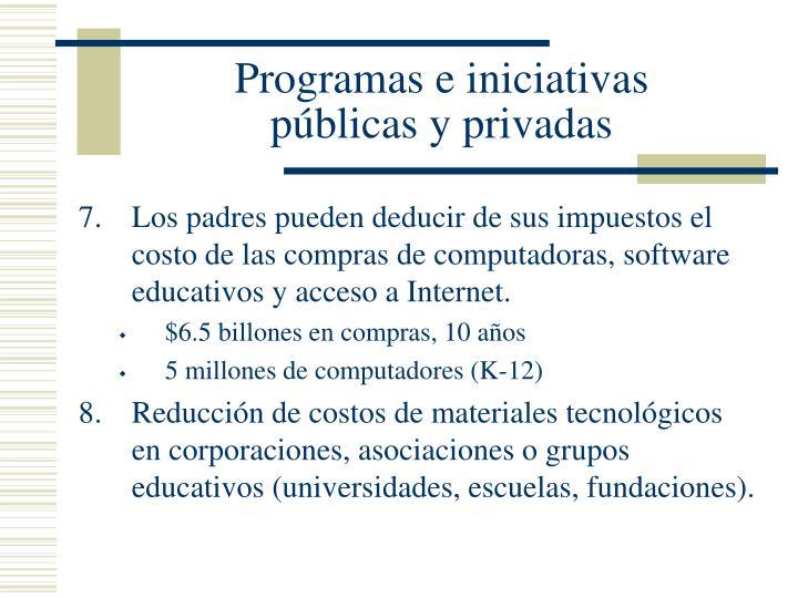 Programas e iniciativas