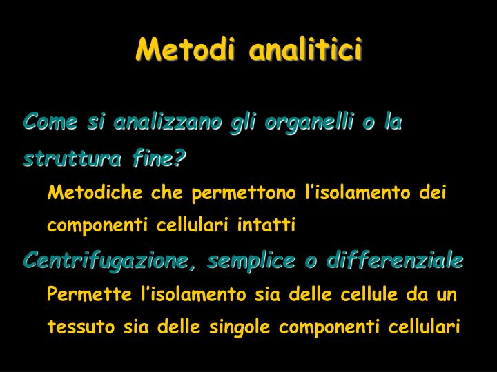 Metodi analitici