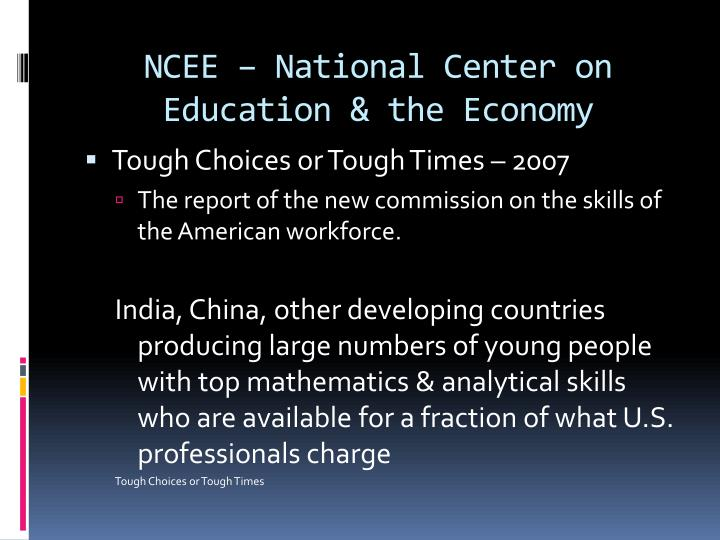 Ncee national center on education the economy