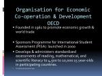 organisation for economic co operation development oecd