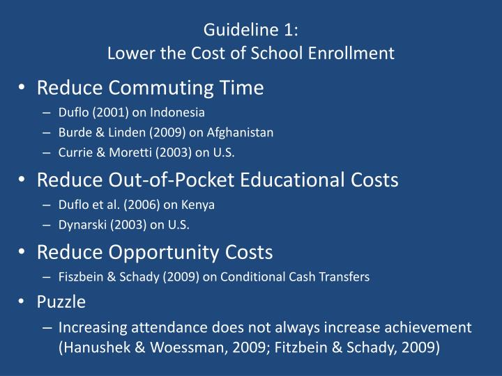 Guideline 1: