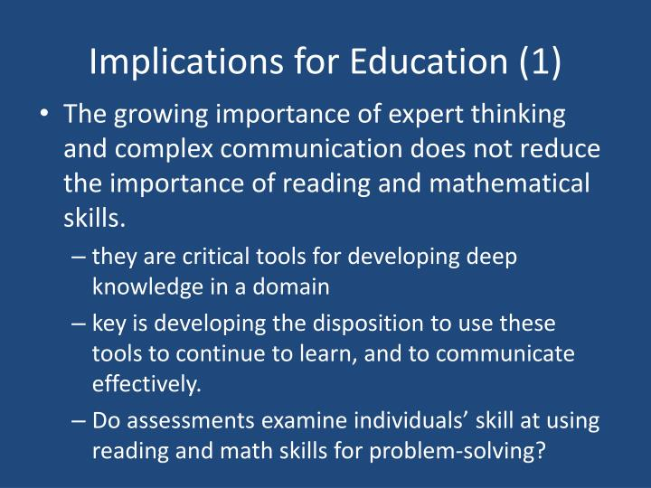 Implications for Education (1)