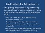 implications for education 1