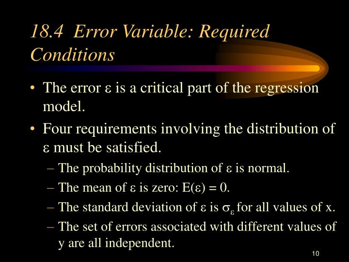 18.4  Error Variable: Required Conditions