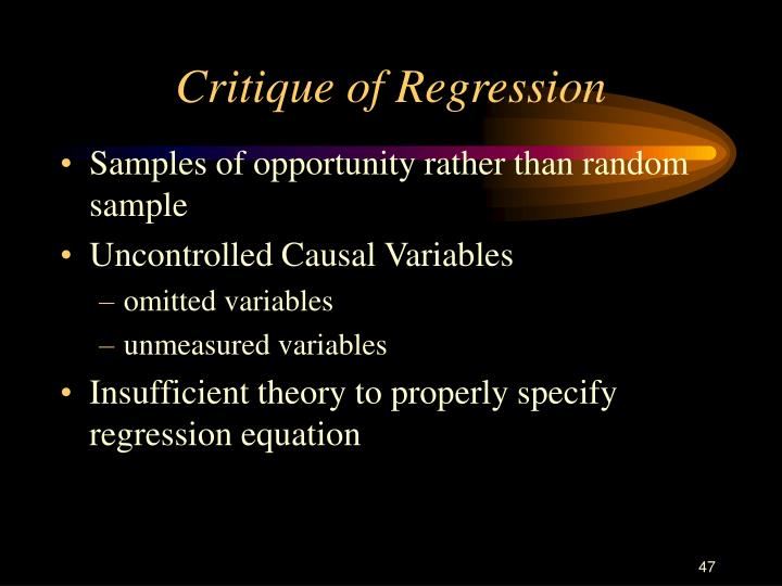 Critique of Regression