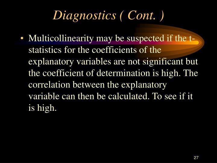 Diagnostics ( Cont. )