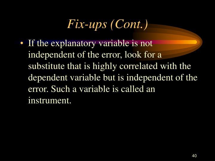 Fix-ups (Cont.)