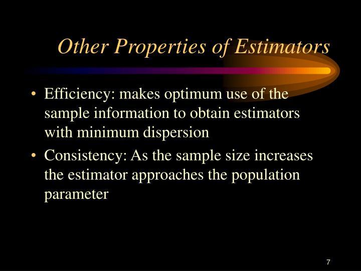 Other Properties of Estimators