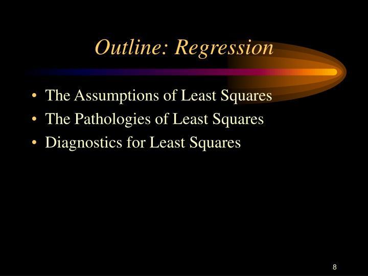 Outline: Regression