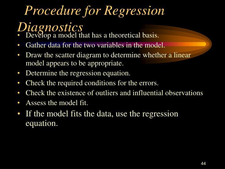 Procedure for Regression Diagnostics