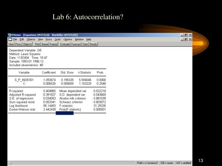 Lab 6: Autocorrelation?