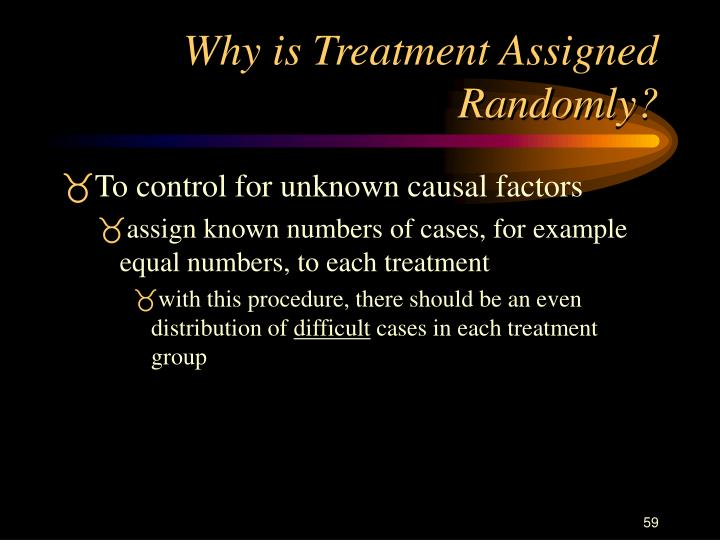 Why is Treatment Assigned Randomly?