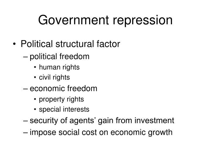 Government repression