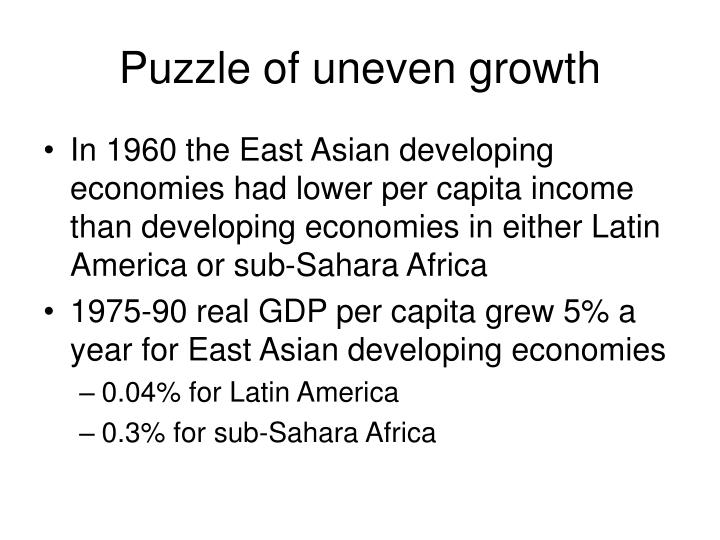 Puzzle of uneven growth