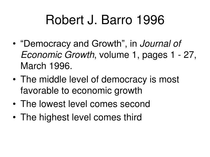 Robert J. Barro 1996