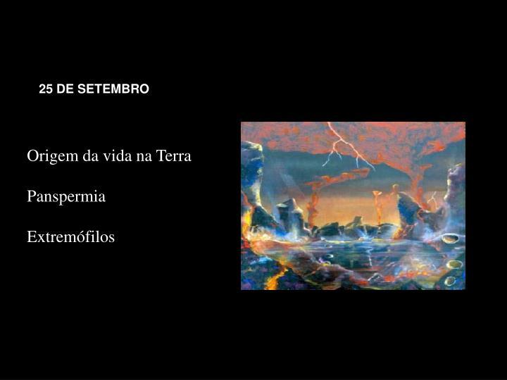 25 DE SETEMBRO