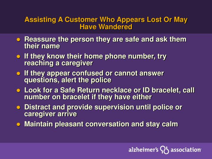 Assisting A Customer Who Appears Lost Or May Have Wandered