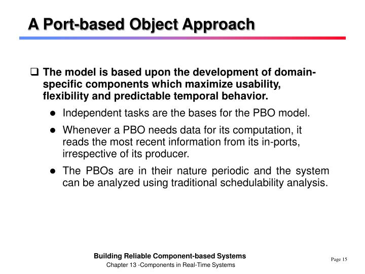 A Port-based Object Approach
