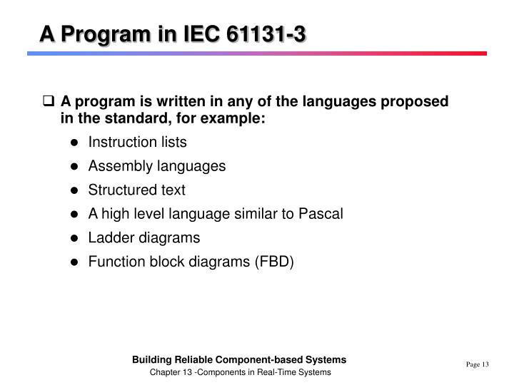 A Program in IEC 61131-3