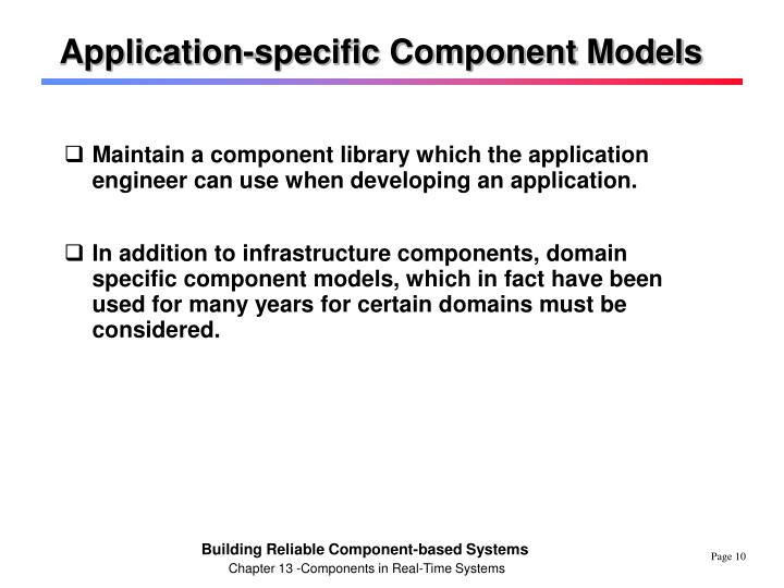 Application-specific Component Models