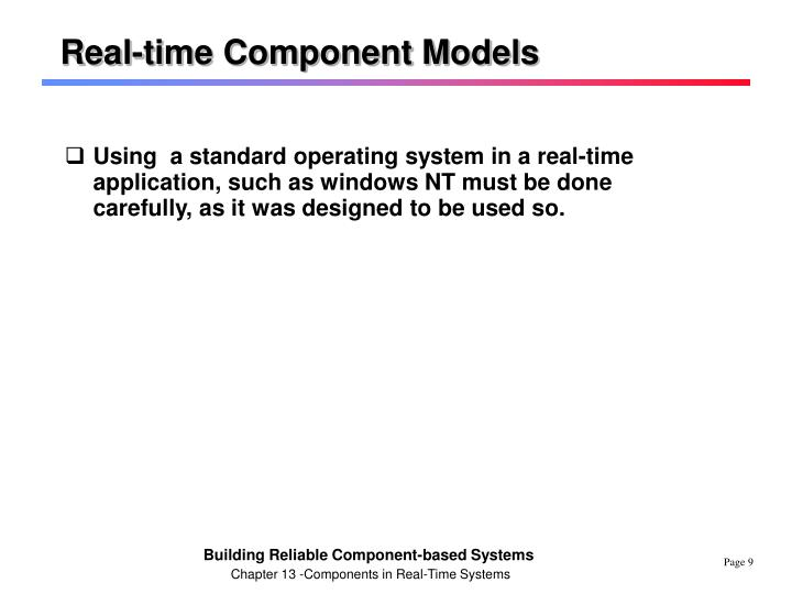 Real-time Component Models