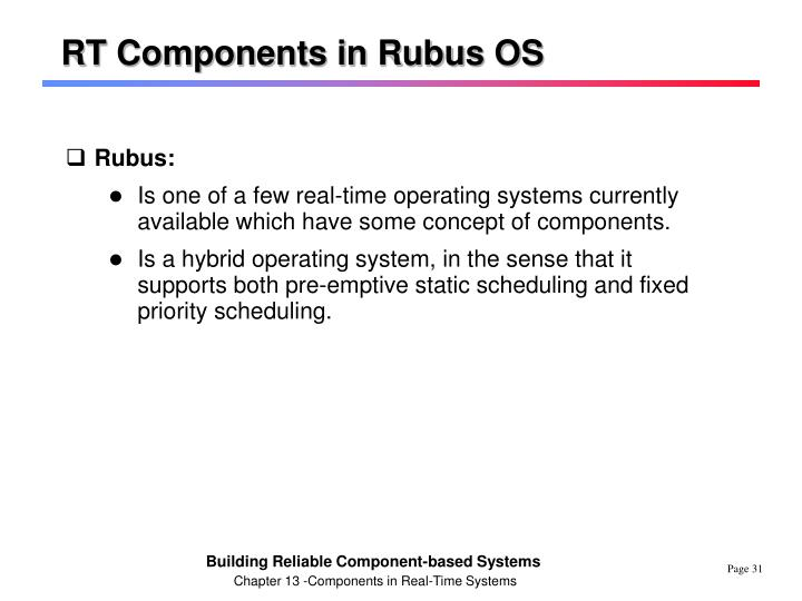 RT Components in Rubus OS