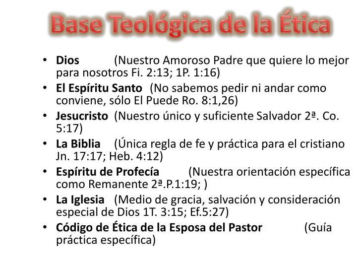 Base Teológica de la Ética