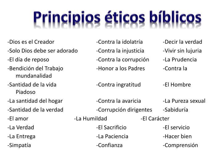 Principios éticos bíblicos