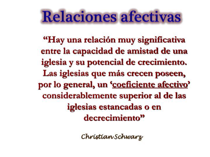 Relaciones afectivas
