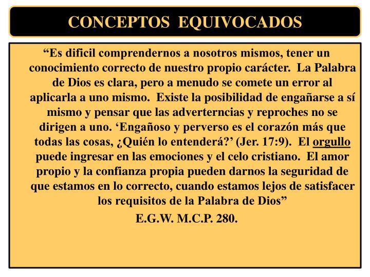 CONCEPTOS  EQUIVOCADOS