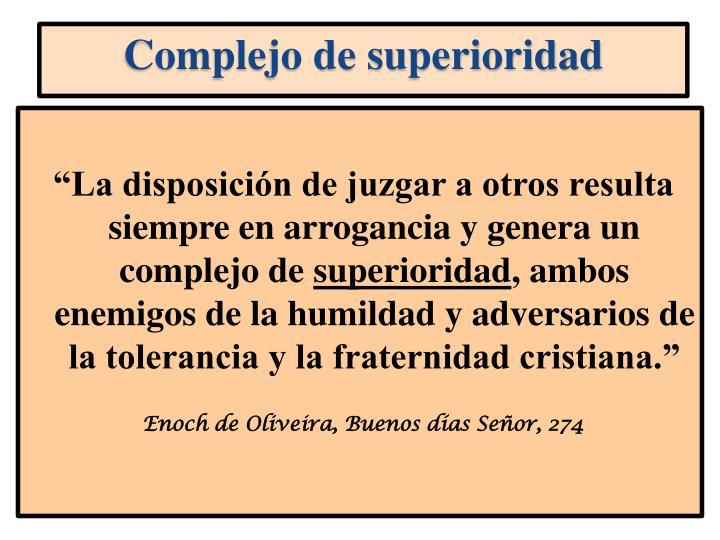 Complejo de superioridad