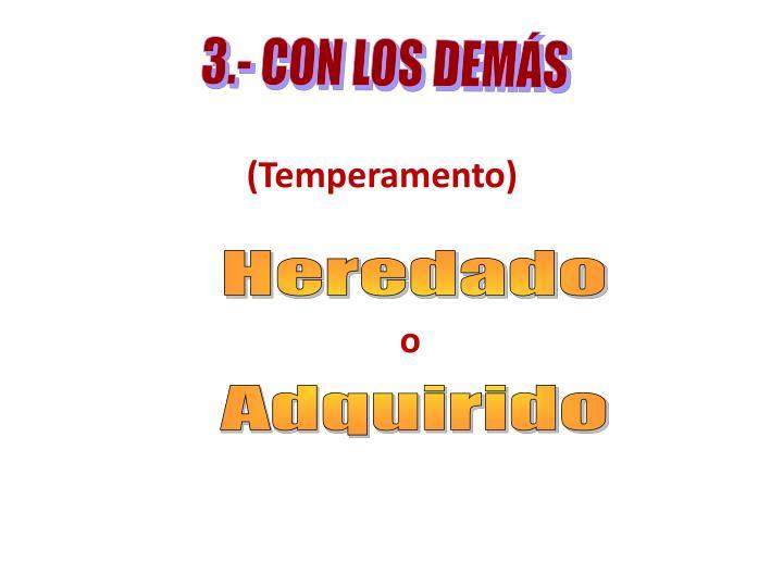 3.- CON LOS DEMÁS