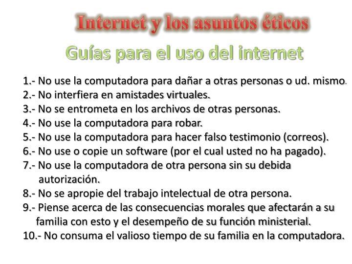 Internet y los asuntos éticos