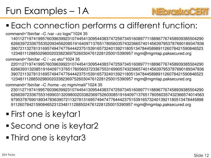 Fun Examples – 1A