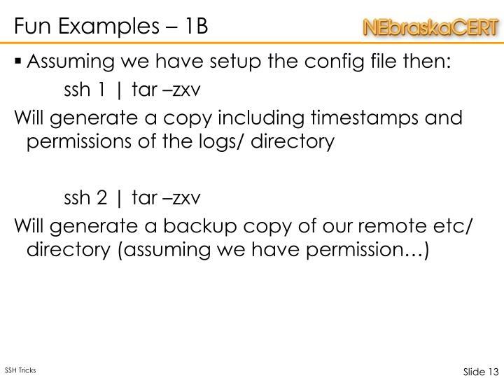 Fun Examples – 1B