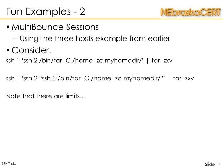 Fun Examples - 2
