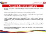 analysis recommendations1