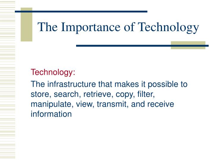 The Importance of Technology
