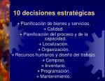 10 decisiones estrat gicas