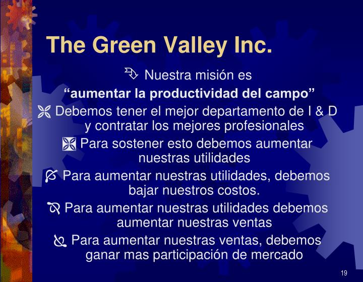 The Green Valley Inc.