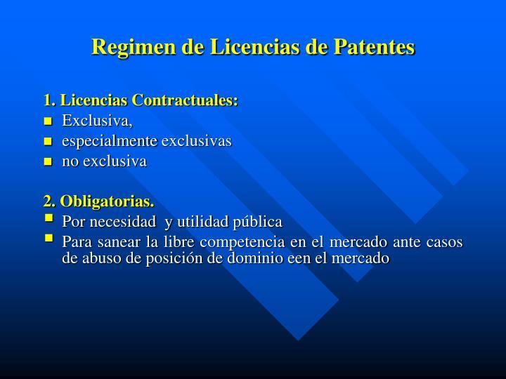 Regimen de Licencias de Patentes