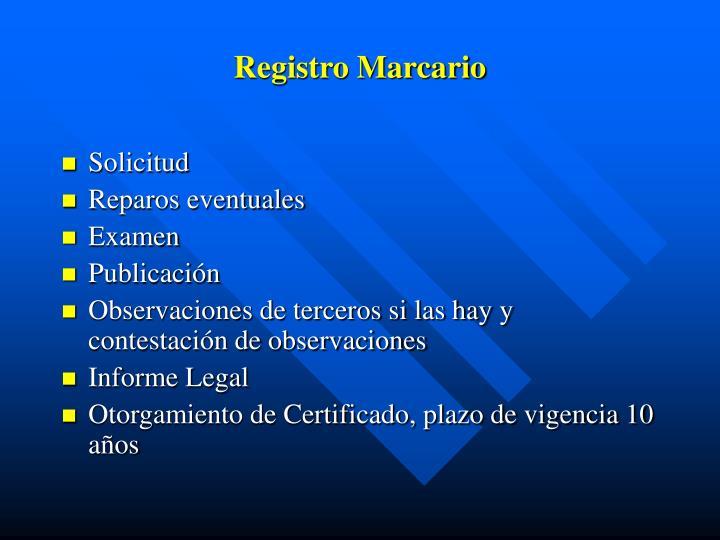 Registro Marcario
