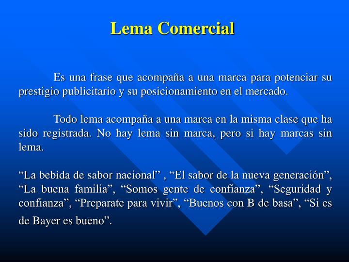 Lema Comercial