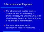 advancement of expenses1