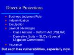 director protections