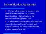 indemnification agreements1